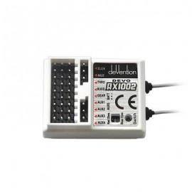 image of WALKERA RX1002 10CH 2.4G RECEIVER FOR DEVO 8 / 10 / 12 TRANSMITTER (WHITE) -