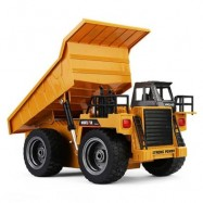 image of HUINA 1540 1:12 2.4G 6CH RC ALLOY DUMP TRUCK AUTO DEMONSTRATION FUNCTION (YELLOW) -