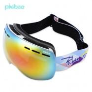 image of PHIBEE UV PROTECTION ANTI-FOG BIG SKIING GOGGLES MASK MEN WOMEN SNOWBOARDING GLASSES (WHITE) PH166AWH