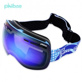 image of PHIBEE UV PROTECTION ANTI-FOG BIG SKIING GOGGLES MASK MEN WOMEN SNOWBOARDING GLASSES (BLUE) PH166ABL