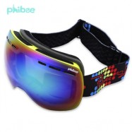 image of PHIBEE UV PROTECTION ANTI-FOG BIG SKIING GOGGLES MASK MEN WOMEN SNOWBOARDING GLASSES (YELLOW) PH166AYW