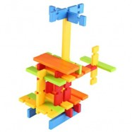 image of 120PCS CHILDREN COLORFUL BUILDING BLOCK BRICKS EDUCATIONAL TOY SET (COLORMIX) One Size