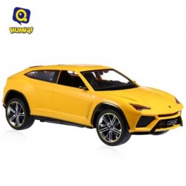 image of HUANQI 666 1:18 SCALE REMOTE CONTROL CAR HIGH SPEED RACING VEHICLE TOY (YELLOW) -
