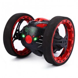 image of 2.4G REMOTE CONTROL JUMPING CAR 2 SECOND ROTATION BOUNCE RC TOY (BLACK) 13.00 x 11.00 x 12.00 cm