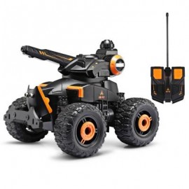 image of YED WATER JET RC 4 WHEEL OFF ROAD STUNT MILITARY CAR (ORANGE) -