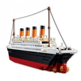 image of SLUBAN BUILDING BLOCKS EDUCATIONAL KIDS TOY BIG TITANIC 1012PCS (COLORMIX) 0