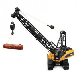 image of HUINA TOYS 1572 1:14 2.4GHZ 15CH RC ALLOY CRANE ENGINEERING TRUCK RTR WITH MOVABLE LATTICED BOOM HOOK / MECHANICAL SOUND / AUTO DEMONSTRATION (DEEP YELLOW) 0