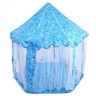 image of KIDS PORTABLE PRINCESS CASTLE PLAY TENT ACTIVITY FAIRY HOUSE INDOOR OUTDOOR PLAYHOUSE TOY GIFT (LIGHT BLUE) -