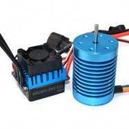 image of SURPASS F540 3650 4370KV WATER-PROOF SENSORLESS MOTOR + 45A BRUSHLESS ESC FOR 1:10 OFF-ROAD / ON-ROAD RACING CAR (COLORMIX) -