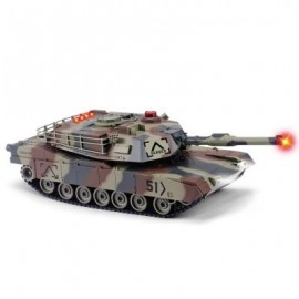 image of HUANQI 549 - 02 2.4G 1:24 SCALE M1A2 SIMULATION RC BATTLE TANK TOY (ARMY GREEN CAMOUFLAGE) -