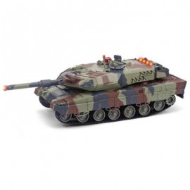 image of HUANQI 516C 2.4G 1:24 SCALE SIMULATION RC BATTLE TANK TOY (ARMY GREEN) -