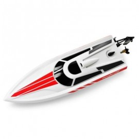 image of VOLANTEX V795 - 1 2.4GHZ 2CH RC RACING BOAT RTR 25KM/H / DEEP-V HULL / WATER-COOLING SYSTEM (WHITE) -