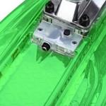 CL - 403 22 INCH TRANSPARENT PC LED RETRO SKATEBOARD LONGBOARD MINI CRUISER (CRYSTAL GREEN) -