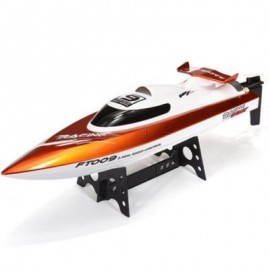 image of FEI LUN FT009 2.4G RC RACING BOAT HIGH SPEED YACHT (CHAMPAGNE GOLD) 0