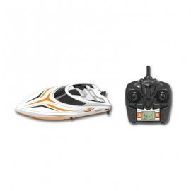 image of TKKJ H105 2.4G 4 CHANNEL HIGH SPEED BOAT WITH LCD SCREEN (ORANGE+WHITE) 0