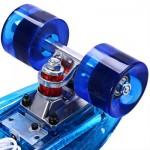 CL - 402 22 INCH TRANSPARENT PC LED RETRO SKATEBOARD LONGBOARD MINI CRUISER (BLUE) -