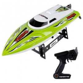 image of 2.4G HIGH SPEED RC BOAT WITH WATER COOLING SYSTEM BRUSHED MOTOR (GREEN) 42.80 x 11.30 x 8.00 cm