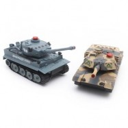image of HUANQI H508 - 10 SIMULATION INFRARED RADIO REMOTE CONTROL TWIN BATTLE TANK SET (COLORMIX) -