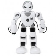 image of INTELLIGENT RC ROBOT 2.4G DANCING BATTLE MODEL TOY CHRISTMAS GIFT FOR KIDS (WHITE AND BLACK) -