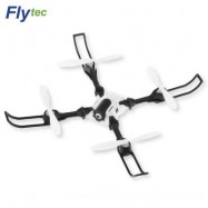 image of FLYTEC T15 FOLDABLE RC QUADCOPTER 0.3MP 4CH WIFI CAMERA (WHITE) 0