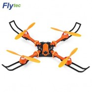 image of FLYTEC T15 FOLDABLE RC QUADCOPTER 0.3MP 4CH WIFI CAMERA (ORANGE) 0