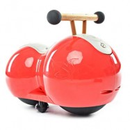 image of CHILDREN PEANUT GOURD DESIGN BABY INFANT TWISTING CAR DRIFT WALKER (RED) One Size
