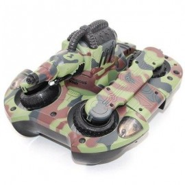image of YED 24883A 2.4GHZ WIRELESS RC TANK WIRELESS WATER / LAND MODE BB BULLET SHOOTING WITH LED LIGHT (CAMOUFLAGE) -