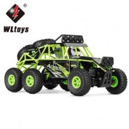 image of WLTOYS 18628 1:18 6WD OFF-ROAD RC CLIMBING CAR RTR 2.4GHZ PROPORTIONAL CONTROL / LED LIGHTS / STRONG MAGNETIC MOTOR (GREEN) -
