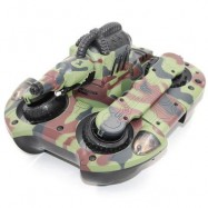 image of 24883A 2.4GHZ WIRELESS RC TANK WIRELESS WATER / LAND MODE BB BULLET SHOOTING WITH LED LIGHT 24.00 x 24.00 x 16.00 cm