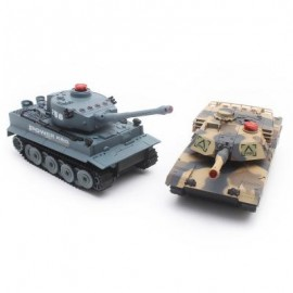 image of H508 - 10 SIMULATION INFRARED RADIO REMOTE CONTROL TWIN BATTLE TANK SET 48.60 x 30.00 x 12.50 cm