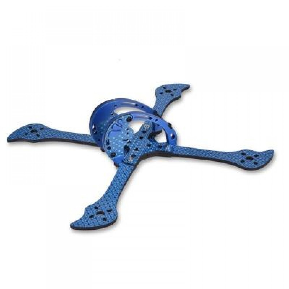 X215 215MM FPV CARBON FIBER DIY FRAME KIT (BLUE) 176 X 225 X 65MM
