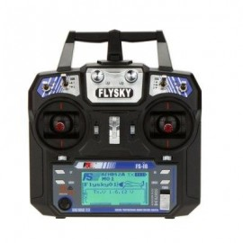 image of FLYSKY FS - I6 2.4GHZ 6CH TRANSMITTER WITH LCD DISPLAY FOR RC AIRCRAFT MODELS (BLACK) -