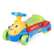 image of HANGLEI 2 IN 1 ACTIVITY WALKER RIDE-ON CAR FOR BABY TODDLER (LAKE BLUE) -