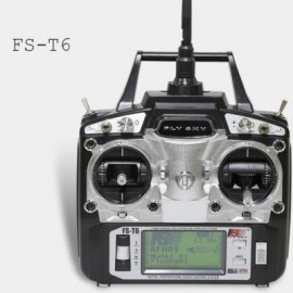 image of FLYSKY FS - T6 2.4GHZ 6CH 500 CONTROL DISTANCE TRANSMITTER FOR RC AIRCRAFT MODELS (BLACK) -