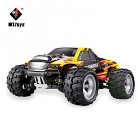 image of WLTOYS A979 - A 1:18 SCALE 2.4G 4WD HIGH SPEED 40KM/H RC MONSTER TRUCK VEHICLE CAR (YELLOW) -