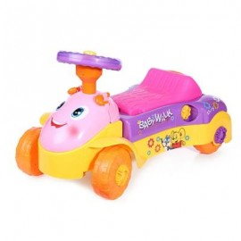 image of HANGLEI 2 IN 1 ACTIVITY WALKER RIDE-ON CAR FOR BABY TODDLER (PINK) -