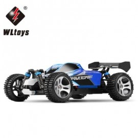 image of WLTOYS A959 2.4G 1 / 18 SCALE REMOTE CONTROL OFF - ROAD RACING CAR HIGH SPEED STUNT SUV (BLUE) US PLUG