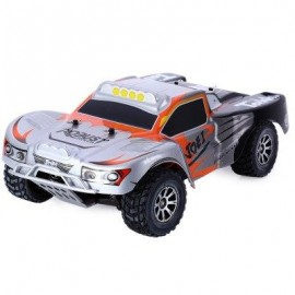 image of WLTOYS A969 2.4G 1/18 SCALE REMOTE CONTROL SHORT COURSE TRUCK (SILVER) -
