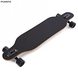 image of PUENTE SILENT LONG SKATEBOARD ROLLER SCOOTER ENTERTAINMENT SPORT KIT (BLACK) -