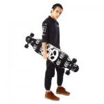 PUENTE SILENT LONG SKATEBOARD ROLLER SCOOTER ENTERTAINMENT SPORT KIT (BLACK) -