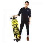 PUENTE SILENT LONG SKATEBOARD ROLLER SCOOTER ENTERTAINMENT SPORT KIT (YELLOW) -