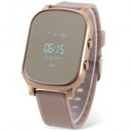 image of T58 CHILDREN SMARTWATCH PHONE 0.96 INCH MTK6261 SOS CALL GPS BLUETOOTH (GOLDEN) 0