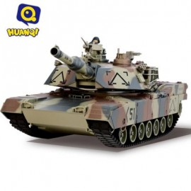 image of 781 - 10 M1A2 27MHZ SIMULATION INFRARED RC BATTLE TANK TOY (ARMY GREEN CAMOUFLAGE) 40.90 x 15.20 x 14.00 cm