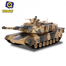 image of 781 - 10 M1A2 27MHZ SIMULATION INFRARED RC BATTLE TANK TOY (MARPAT DESERT) 40.90 x 15.20 x 14.00 cm