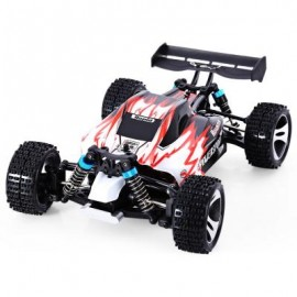 image of WLTOYS A959 2.4G 1/18 SCALE REMOTE CONTROL OFF-ROAD RACING CAR HIGH SPEED STUNT SUV (RED, US PLUG) US Plug