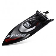 image of FEILUN FT012 2.4G 4CH BRUSHLESS RC RACING BOAT (BLACK) EU PLUG