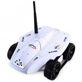 image of NO.777 - 325 WIFI FPV REMOTE CONTROL TANK HD CAMERA RC TELECONTROL TOY (WHITE) US PLUG
