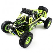 image of WLTOYS NO. 12428 1 / 12 2.4GHZ HIGH SPEED 4WD CLIMBING RC CAR (BLACK AND GREEN) -