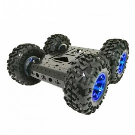 image of SZDOIT C3 SMART DIY ROBOT KIT 4WD 4-WHEEL 12V MOTOR (BLACK) 0