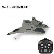 image of MACFREE F - 22 F22 MCF2201 BRUSHED 2.4GHZ 6CH BUILT-IN 6 AXIS GYRO FIXED-WING 222MM WINGSPAN AEROPLANE RTF (GRAY) -